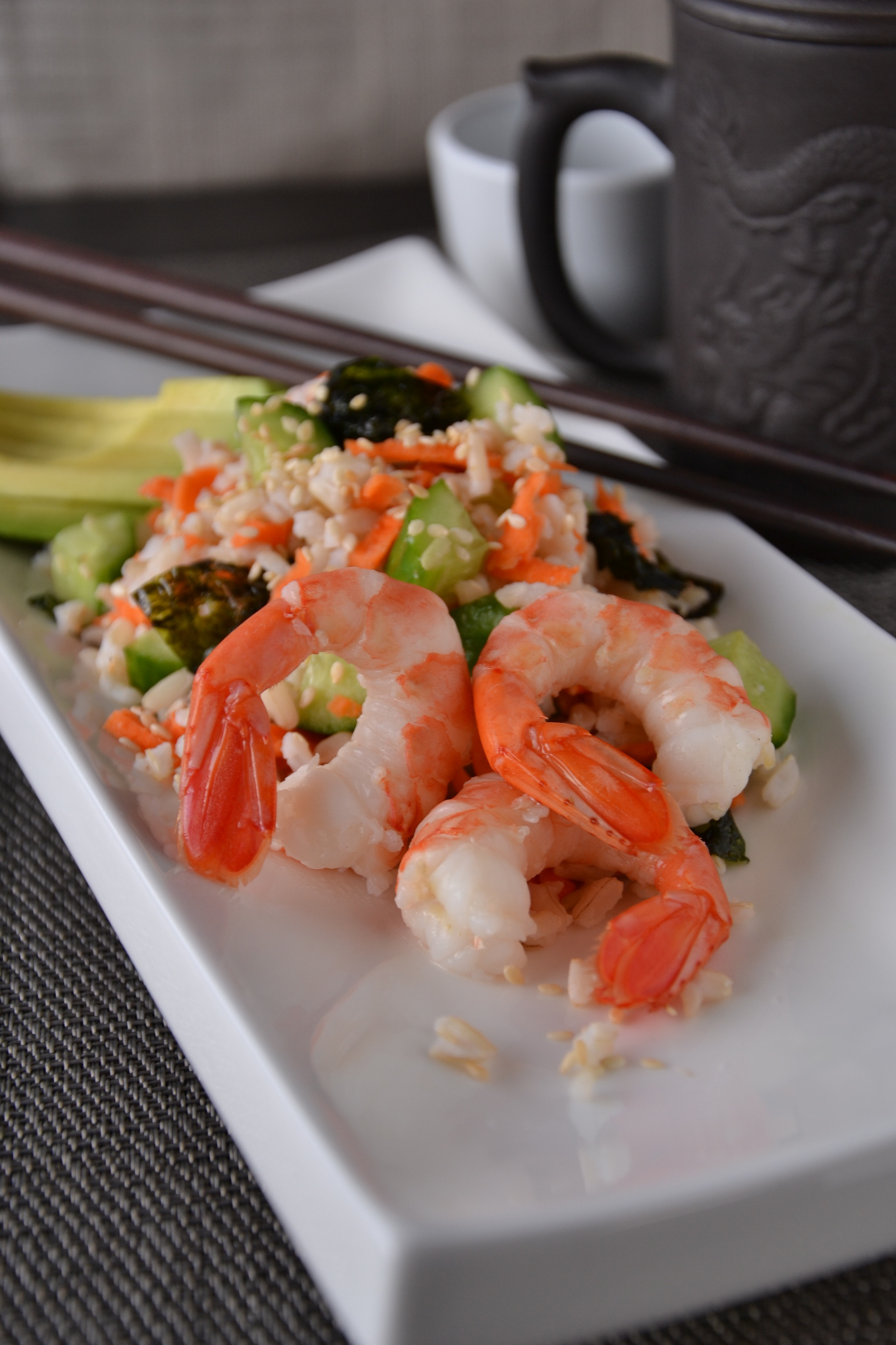 sushi salad bowl sushi salad can be served with the rice warm or ...