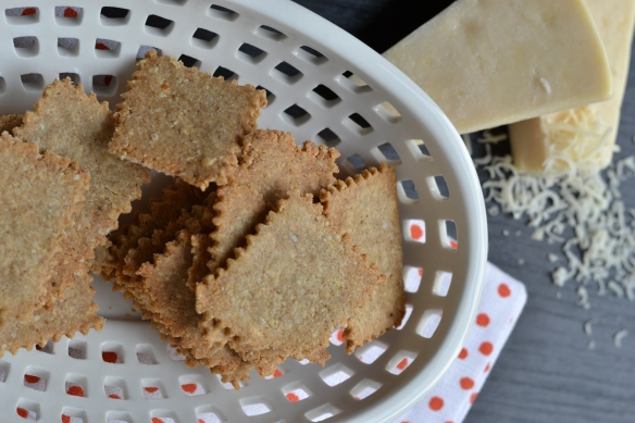 buckwheat crackers - asiago