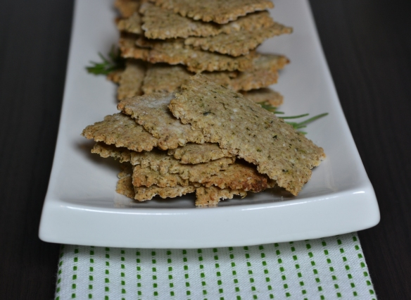 buckwheat crackers - close up