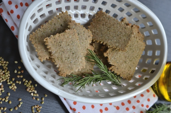 buckwheat crackers - rosemary