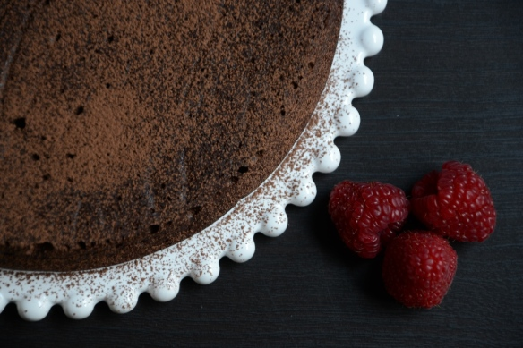 chocolate ancho cake - from top resized